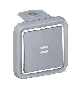 Plexo drukknop +verklikker DIY grijs volledig apparaat
