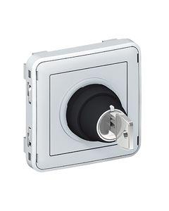 Plexo sleutelsch. 3 pos. 10a 250v samenstelbaar grijs