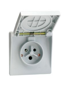 Waterdichte contactdoos 2P+A 32A IP44 gr