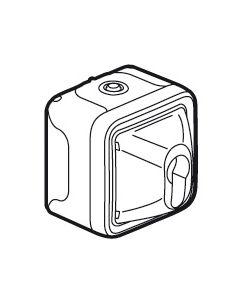 Plexo sleutelschakelaar 10a - 250v - samenstelb.grijs