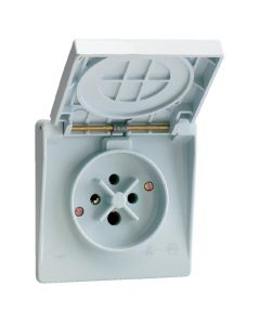 Waterdichte contactdoos 3P+A 32A IP44 gr