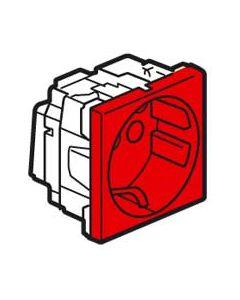 Mosaic ctdoos 2P+A schuko antimicrobieel 2 modules -rood