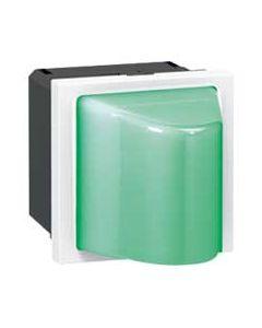 Mosaic wandlichtje LED groen 230V 2 mod.