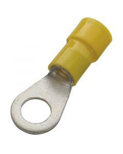 RING Geïsoleerde kabelschoenen 4 à 6 mm2  GEEL 6,4