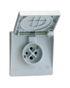 Waterdichte contactdoos 3P+A 16A IP44 gr