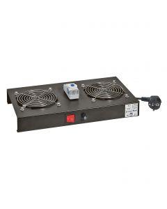 Linkeo2 kit 2 ventilatoren inclusief thermostaat voor wandkast