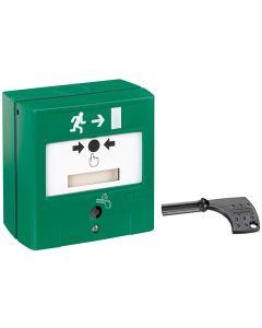 Beheermodule voor nooduitgang - manuele bediening via het membraan of automatische bediening via schakeling brandalarmcentrale of module Toegangscontrole